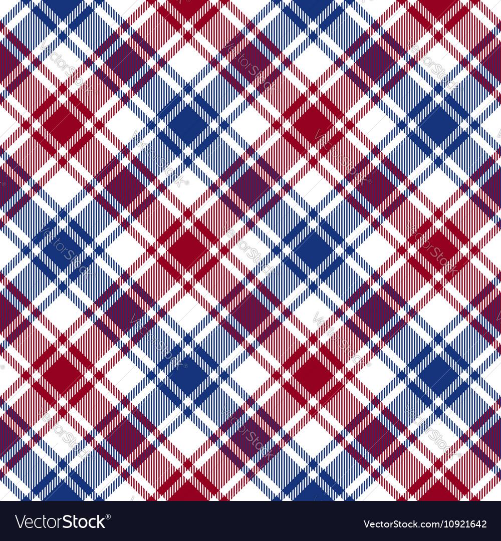 Red blue white diagonal check texture seamless