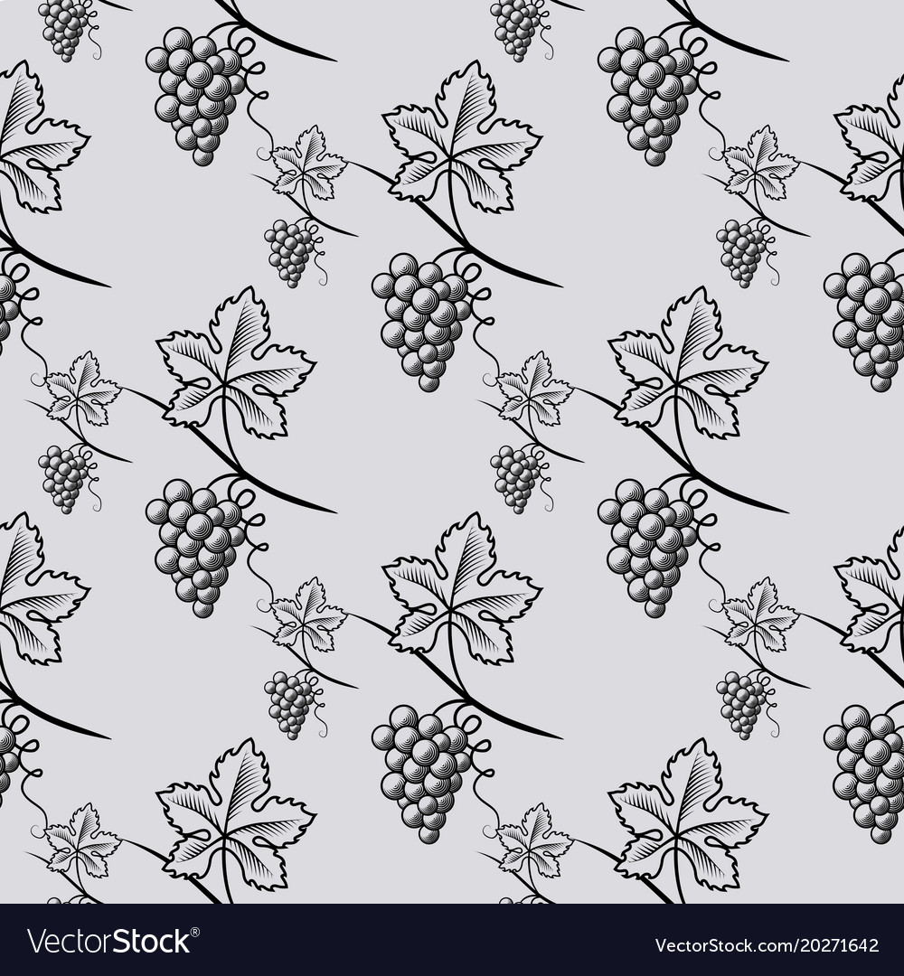 Seamless pattern of grape