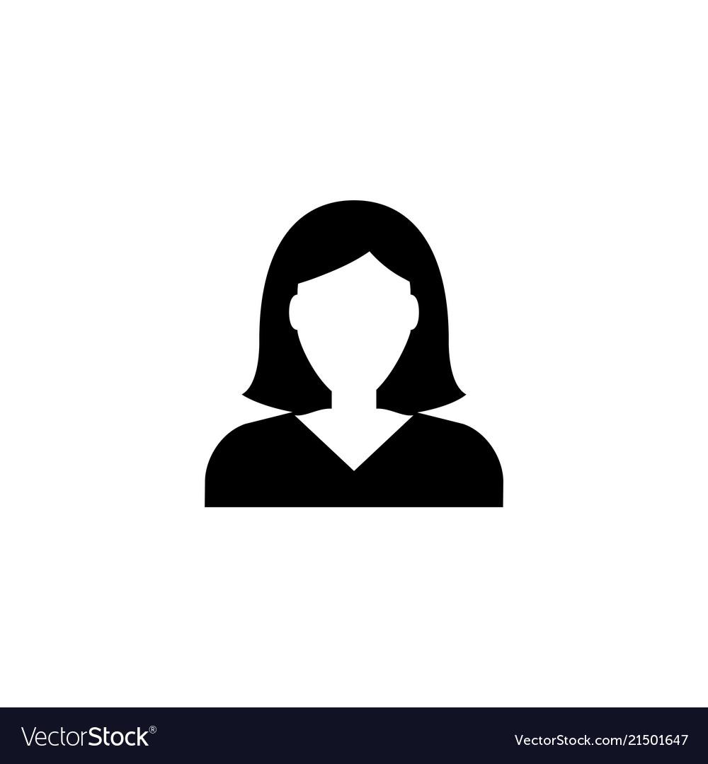 Businesswoman character avatar flat icon