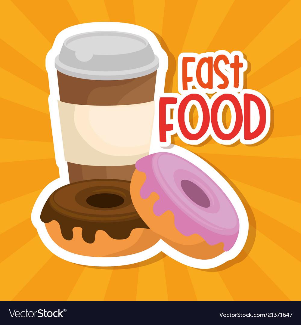 Coffee and donuts menu