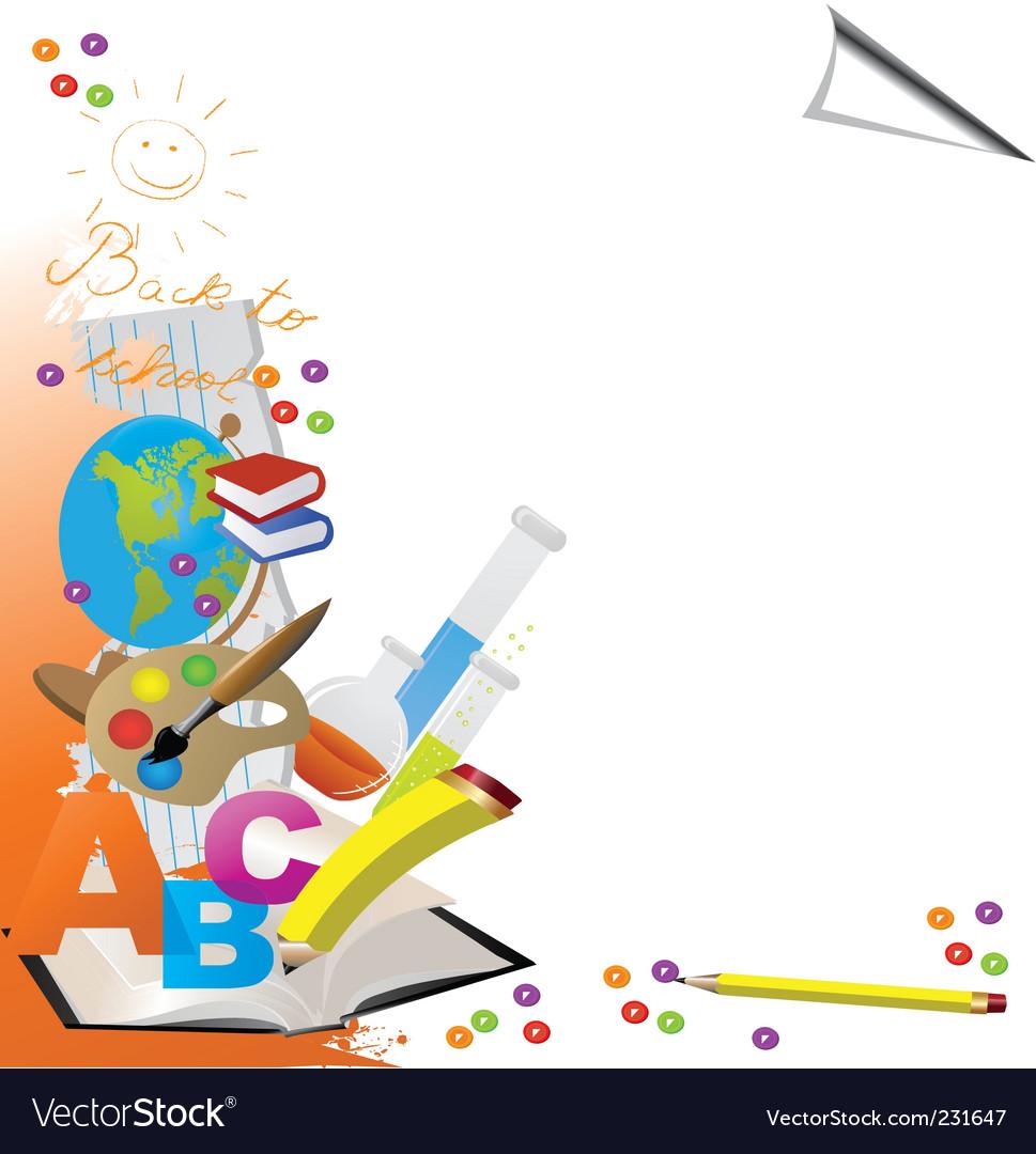 Education border vector image