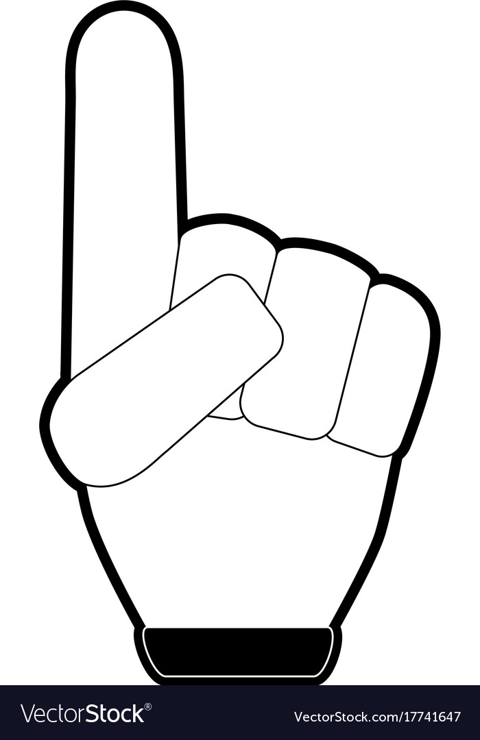 Foam finger icon image