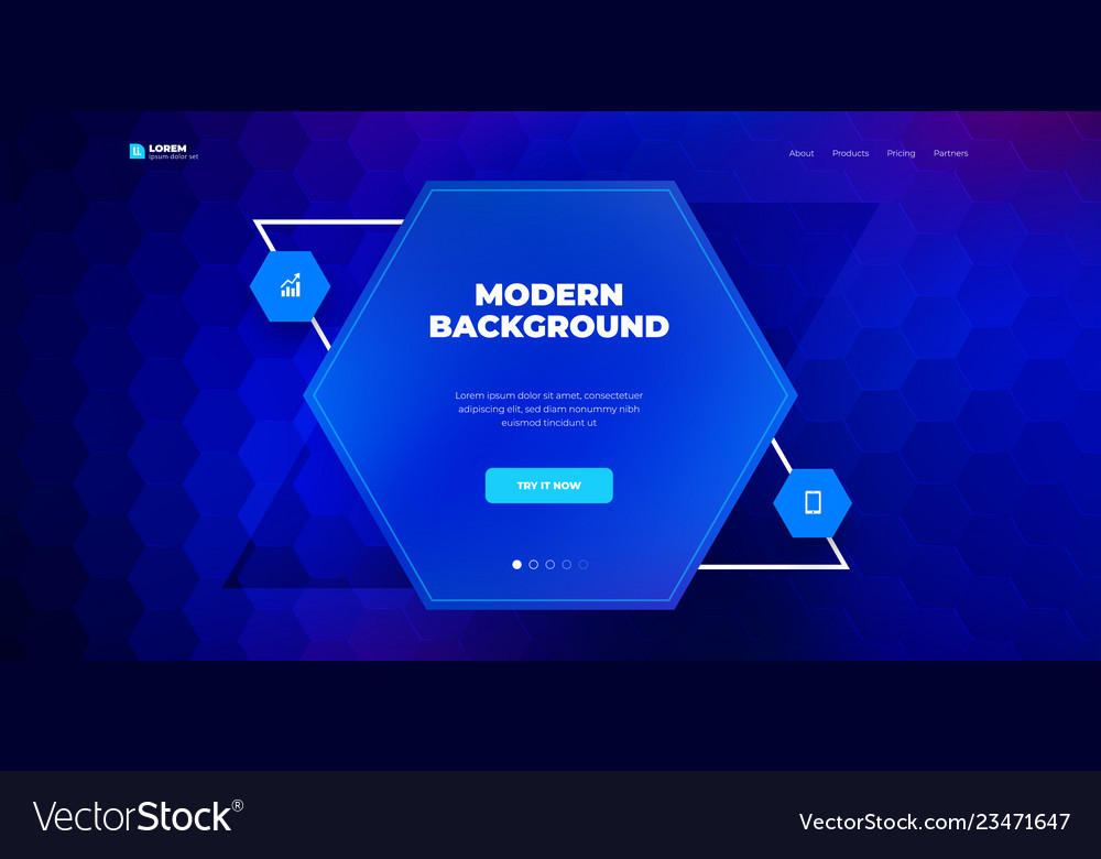 Geometric abstract gradient background design