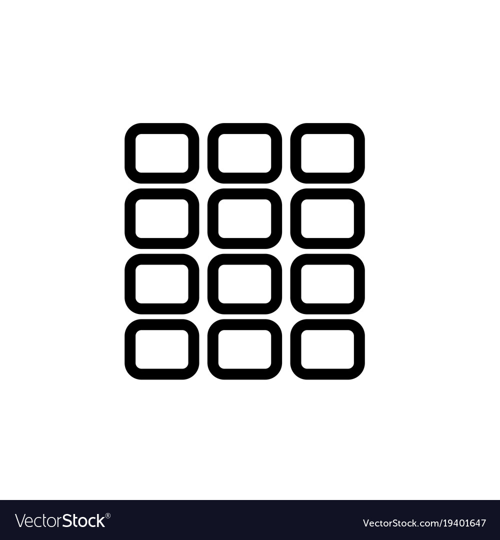 Grid square icon vector image