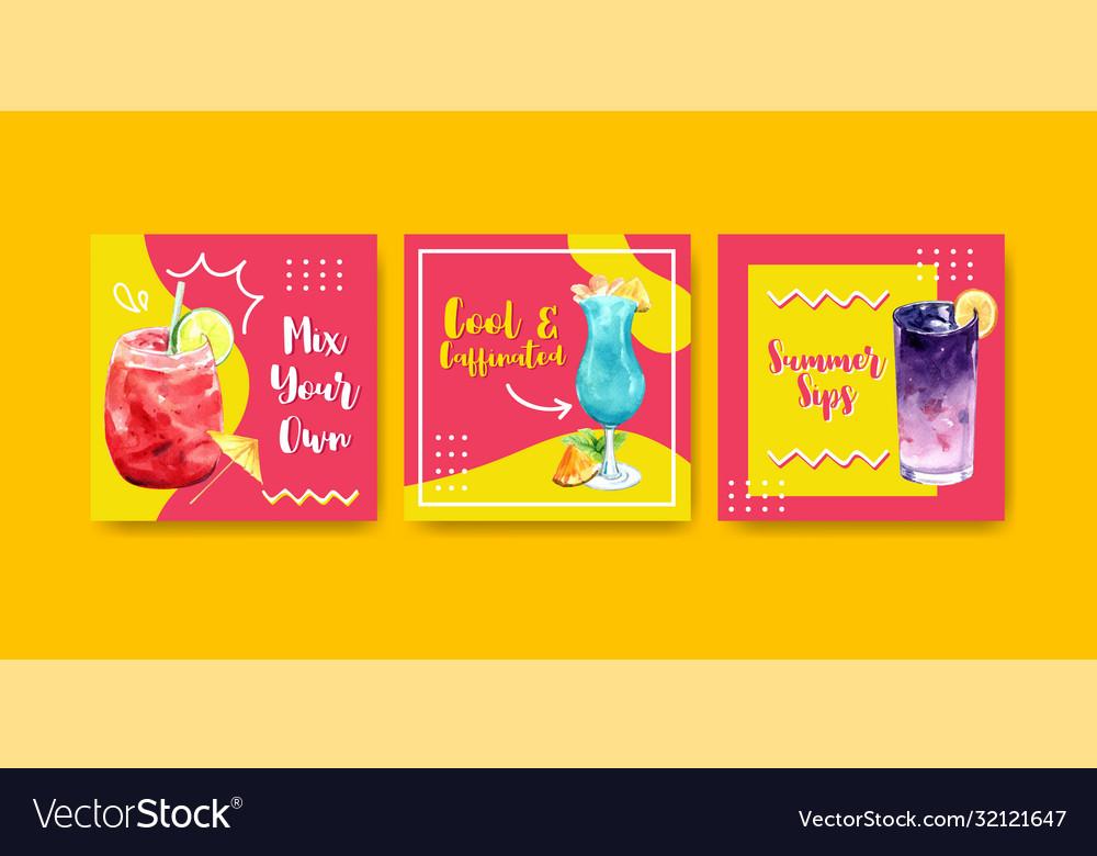 Summer drink advertisement design for vacation