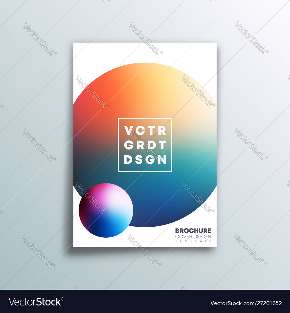 Background with colorful gradient ball design