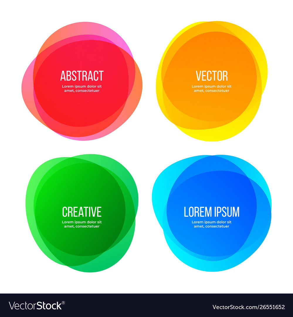 Round shape banners abstract color graphic design