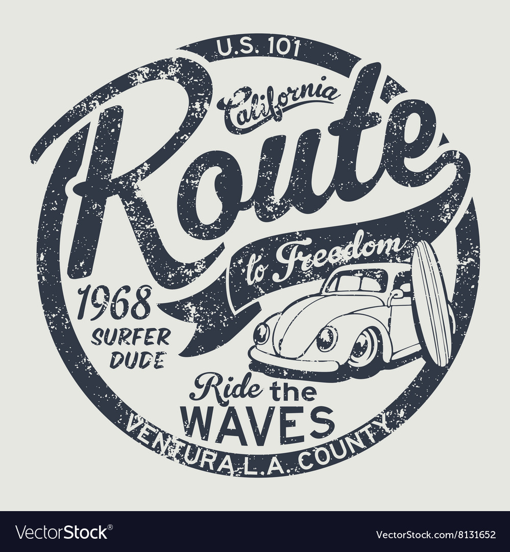 Route to freedom vintage surfing