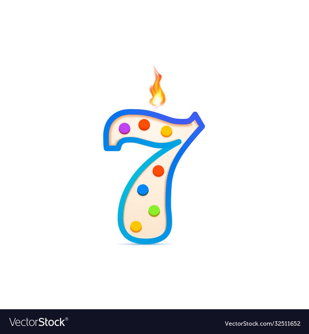 Seven years anniversary 7 number shaped birthday