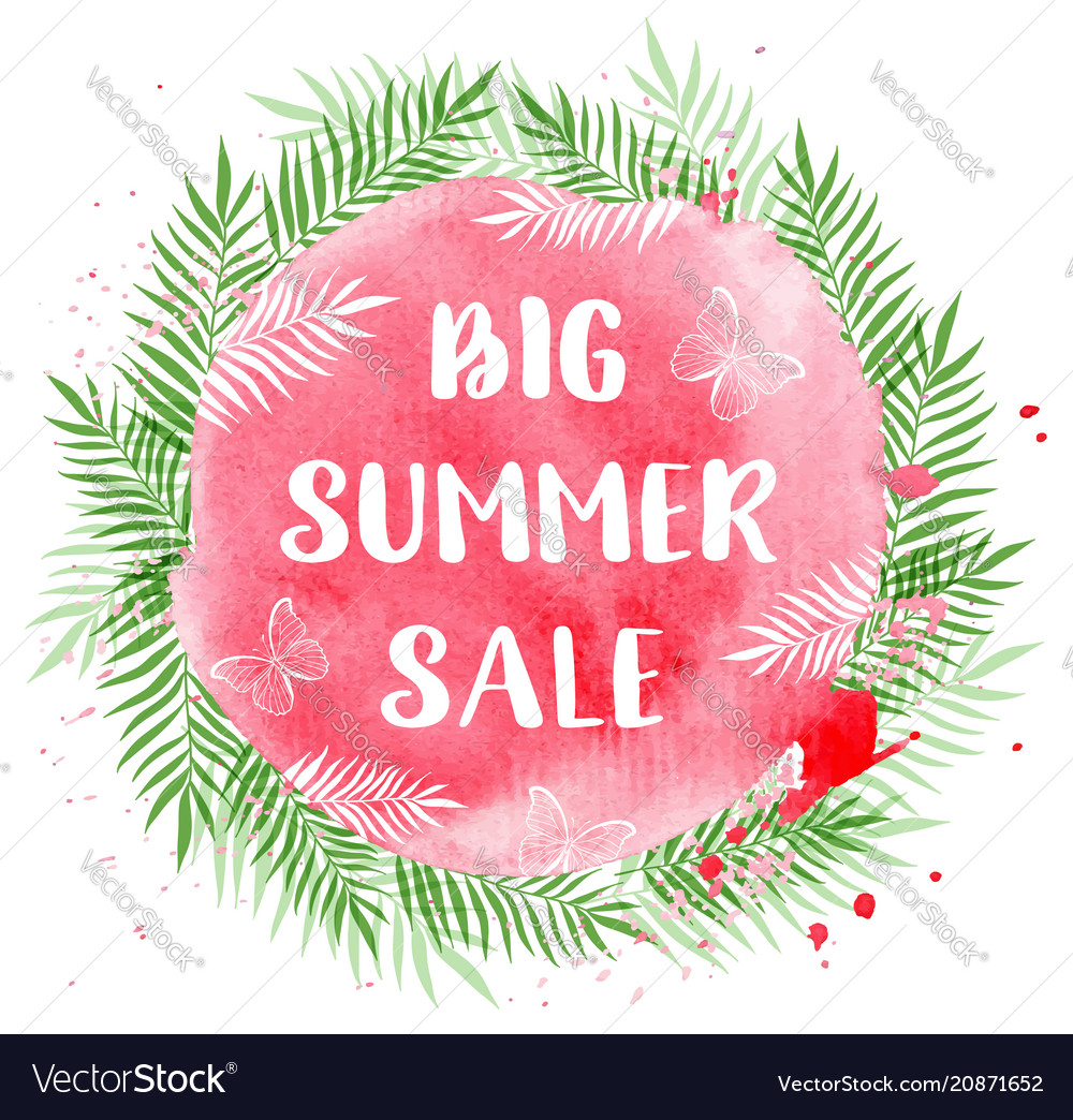 Tropical background for seasonal summer sale