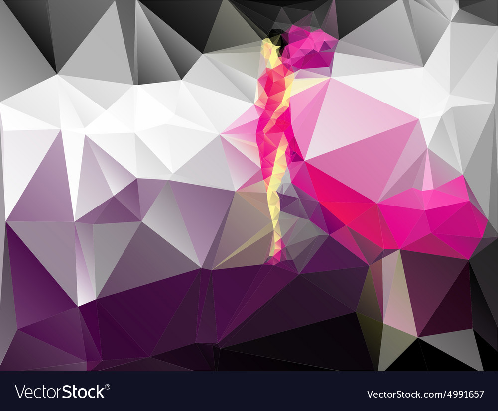 Abstract image of a model vector image
