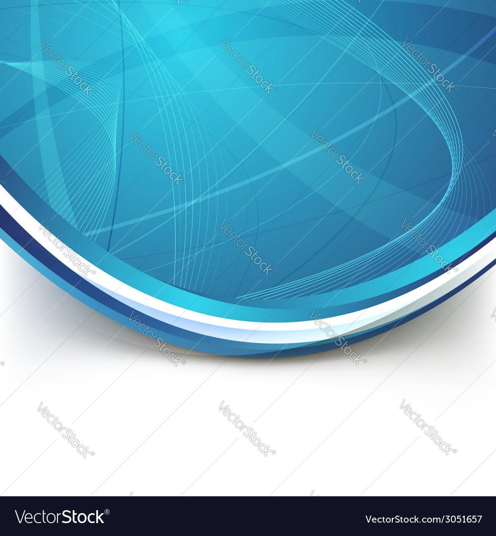 Blue border swoosh wave line modern background