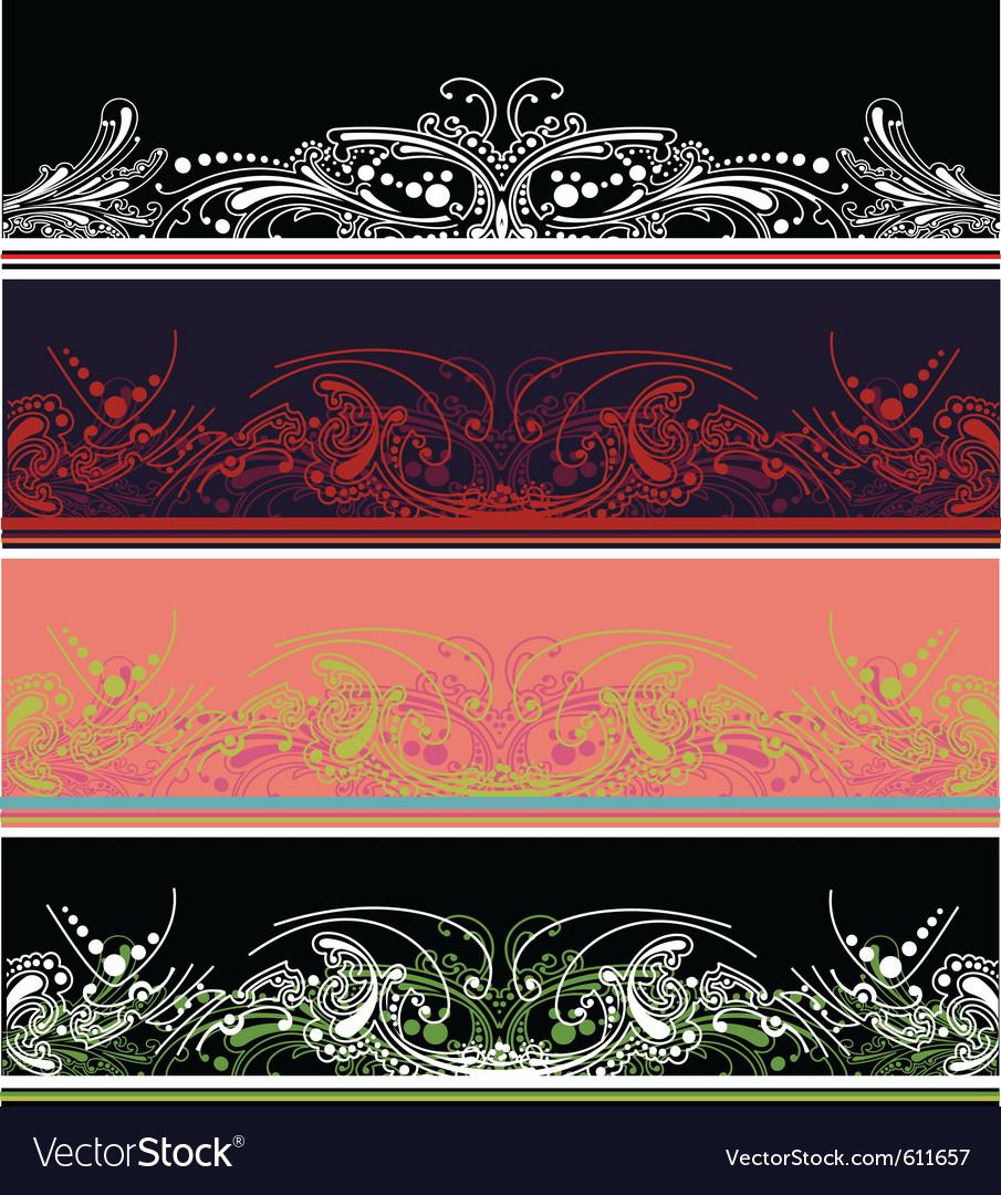 Border design elements vector image