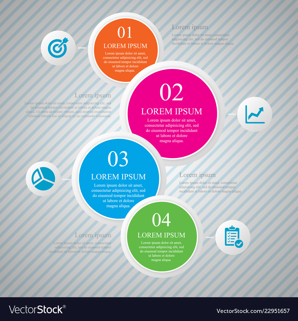 Business infographic template design with step