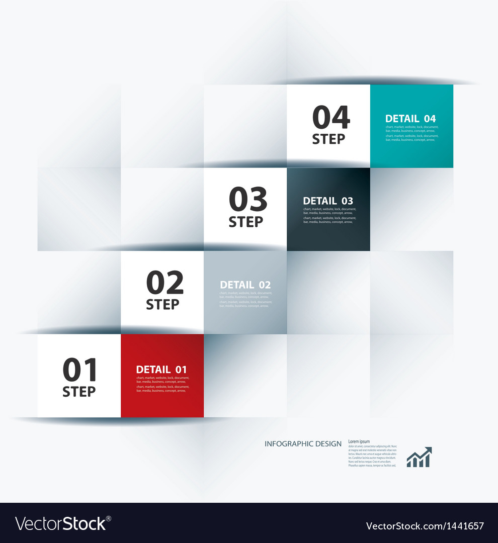 Business step paper data and numbers design