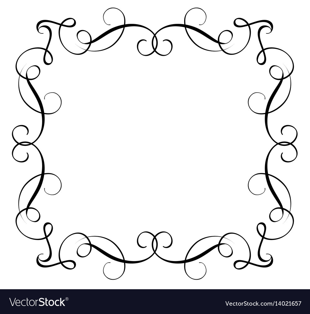 Decorative frame and borders art calligraphy