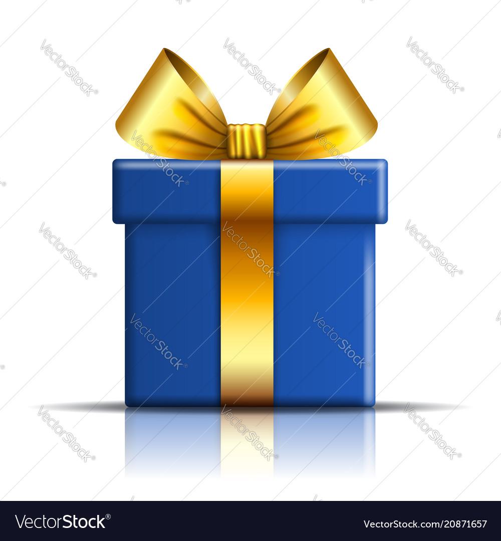 Gift box blue icon open surprise present template