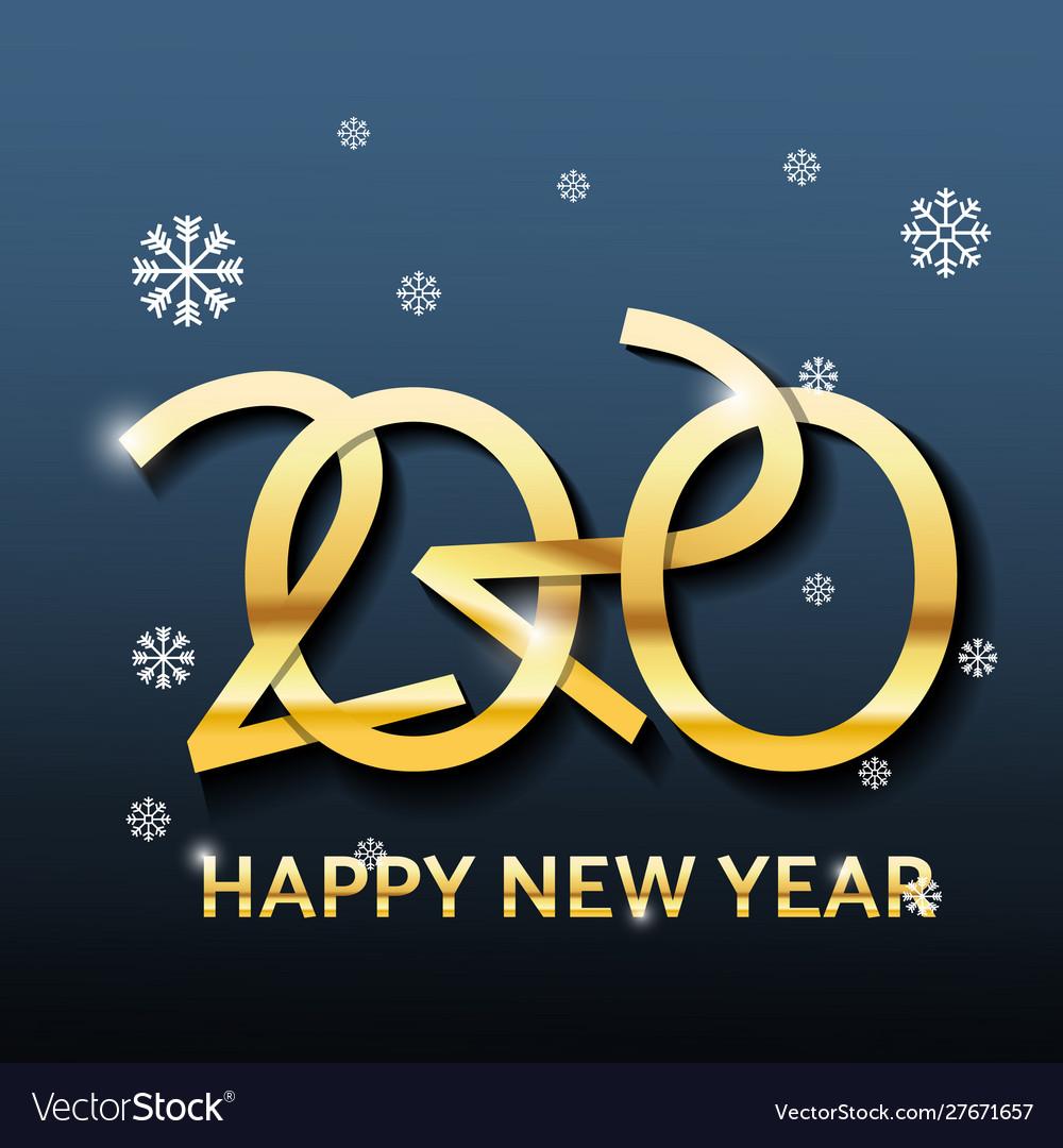 Golden luxury text 2020 happy new year