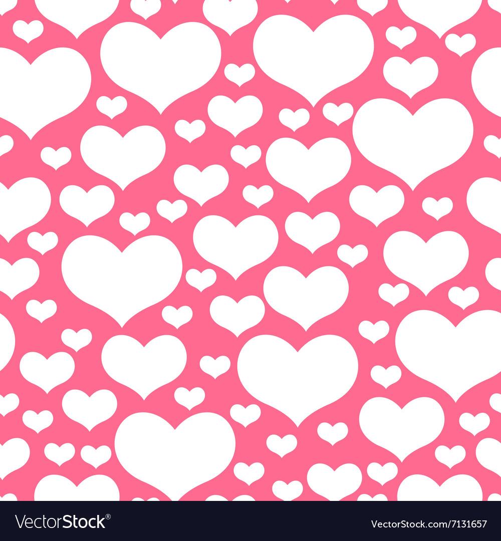 Hearts pattern pink
