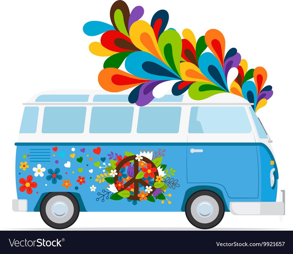 Hippie peace van