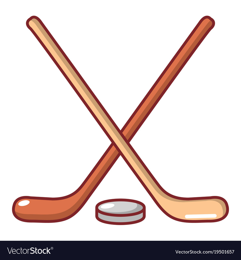hockey stick icon cartoon style royalty free vector image rh vectorstock com cartoon ice hockey stick cartoon field hockey stick