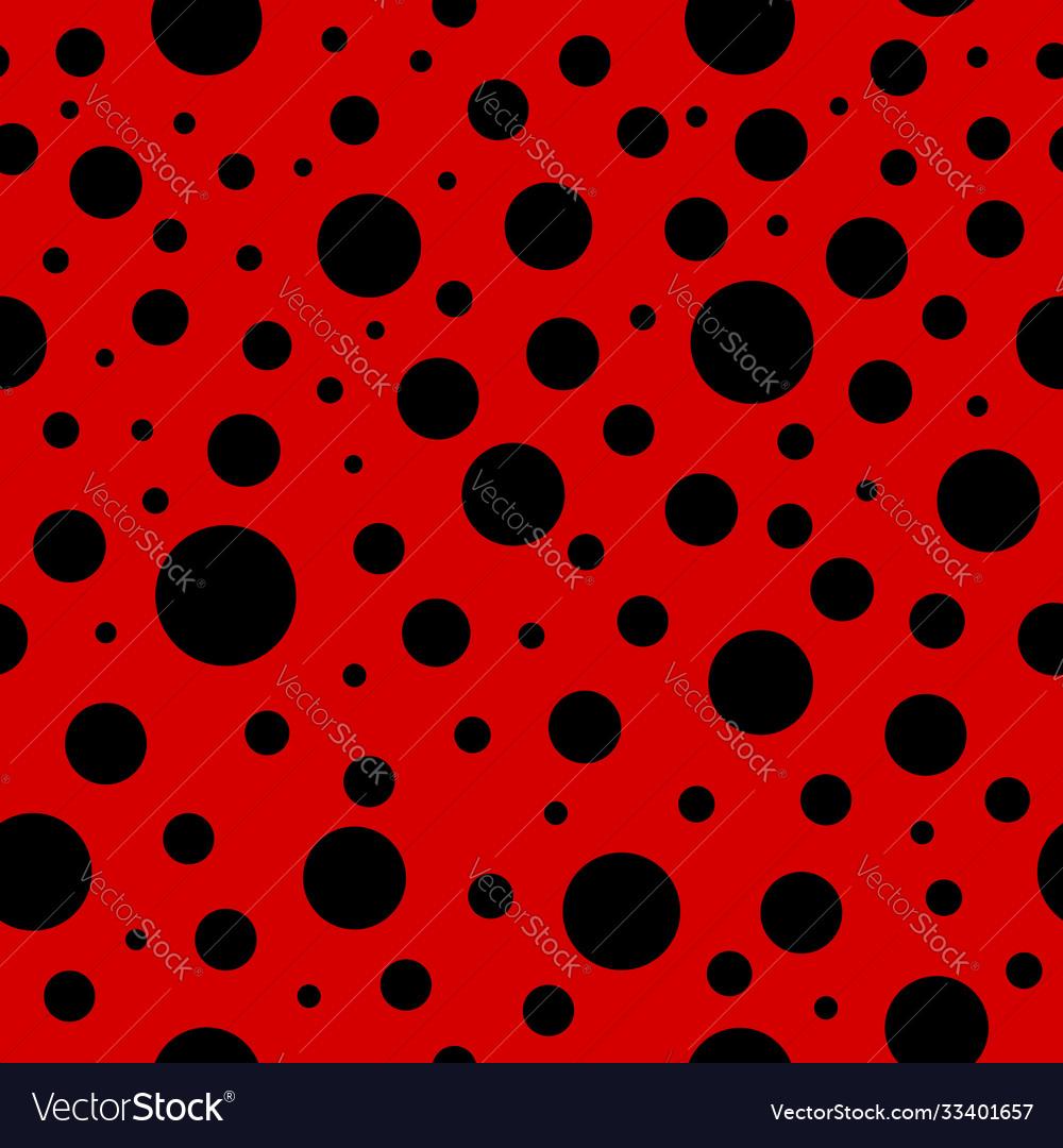 Ladybug seamless pattern lady bug background