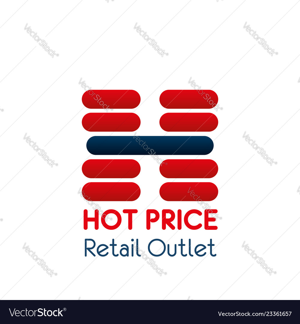 Letter h icon for retail outlet center