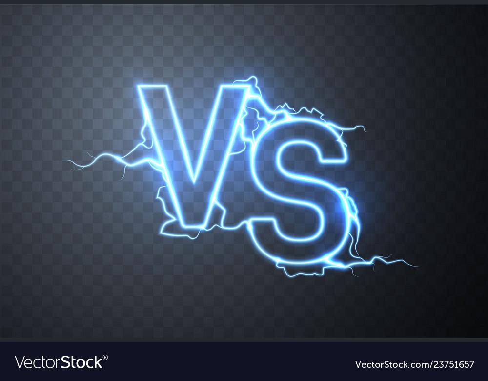 Versus sign vs glow symbol