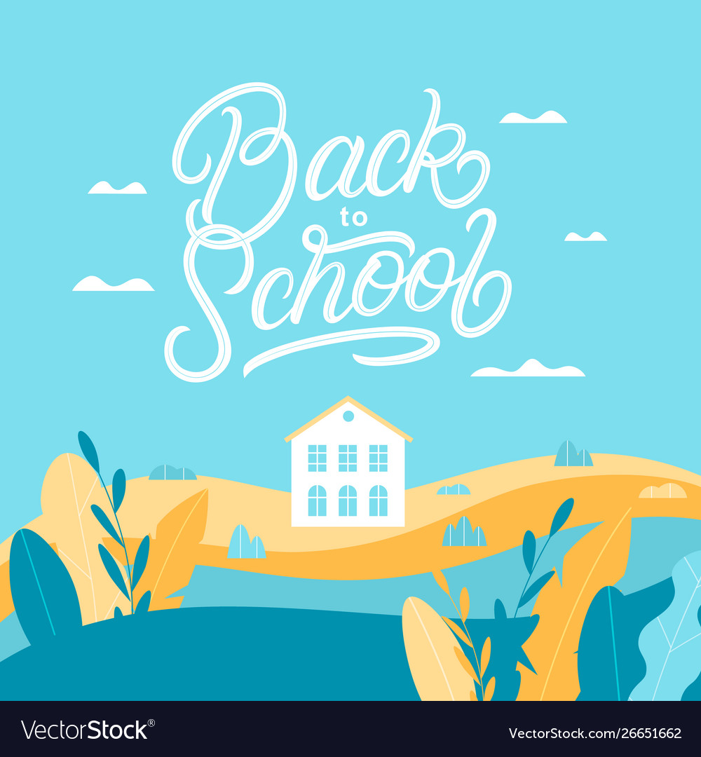Back to school lettering backround