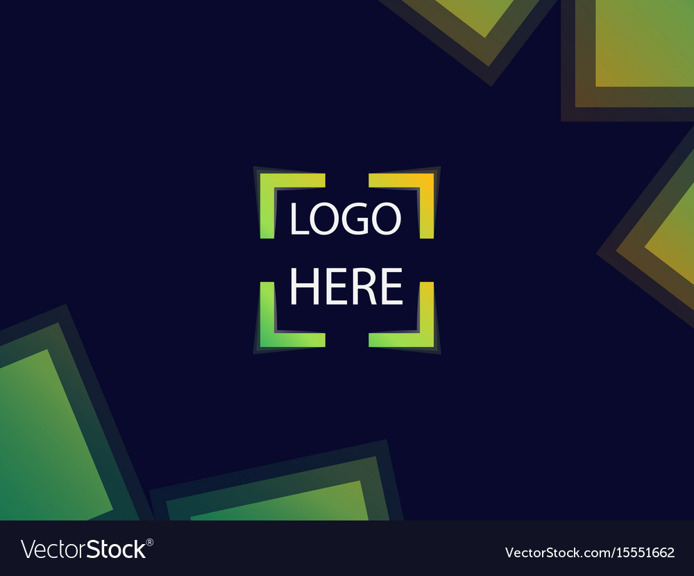 Background with square focus for signs or logo