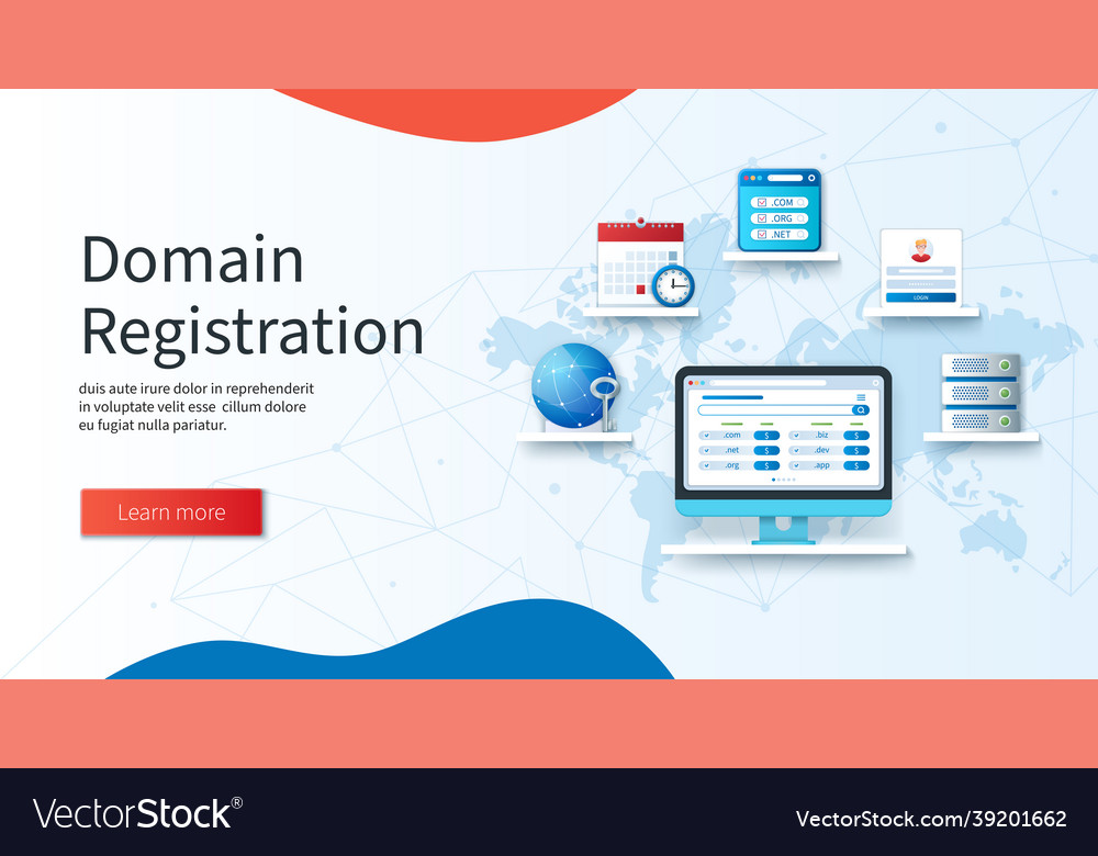 Domain registration banner computer with