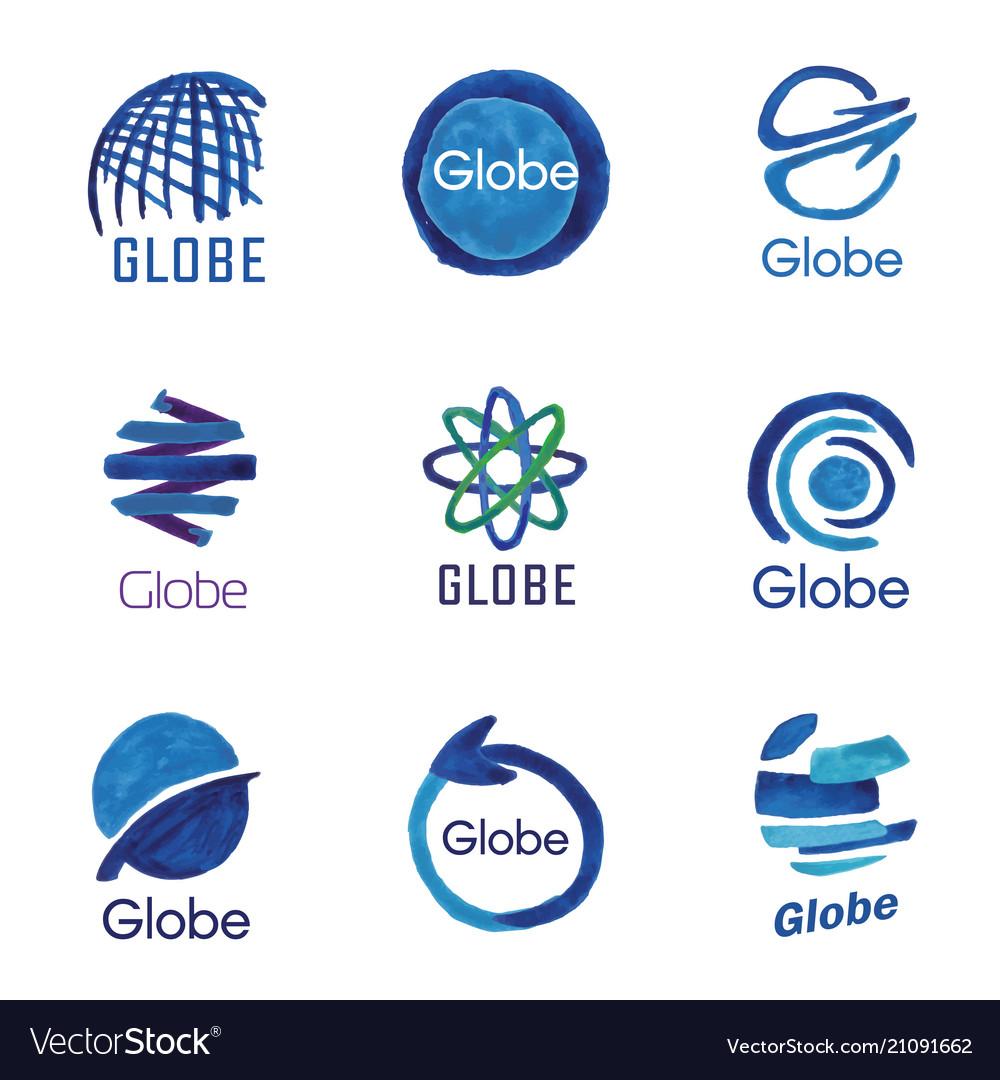 Logos globe global