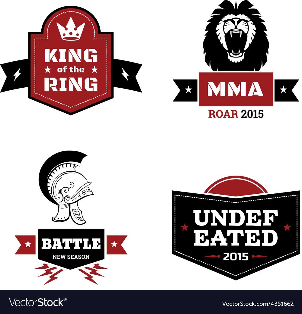 Martial arts logo set