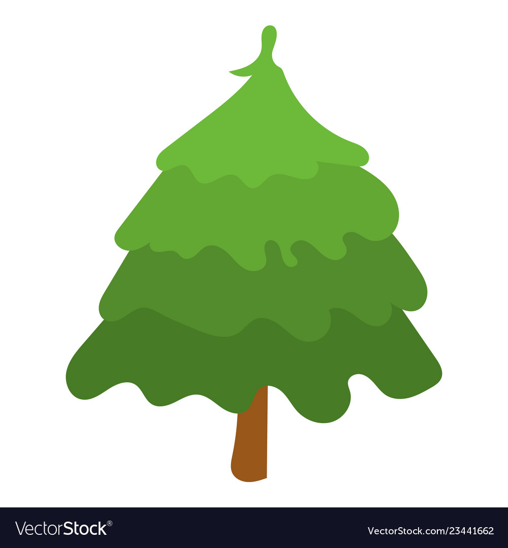 Park fir tree icon isometric style