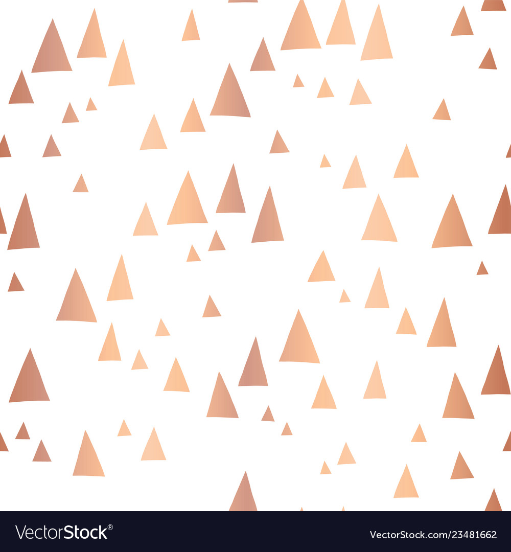 Scattered rose gold foil triangles pattern