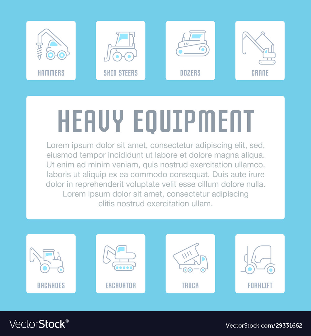 Website banner and landing page heavy equipment