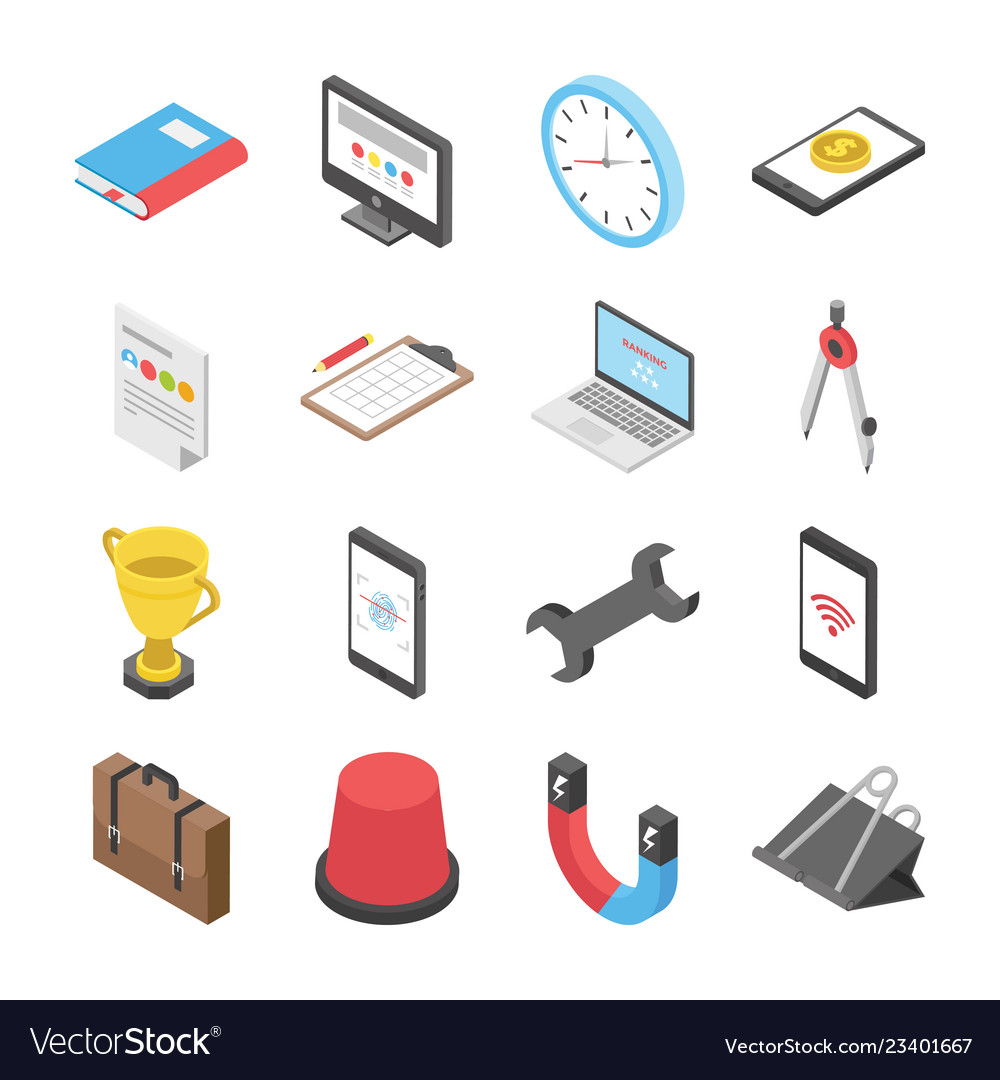 3d worldwide network icons set