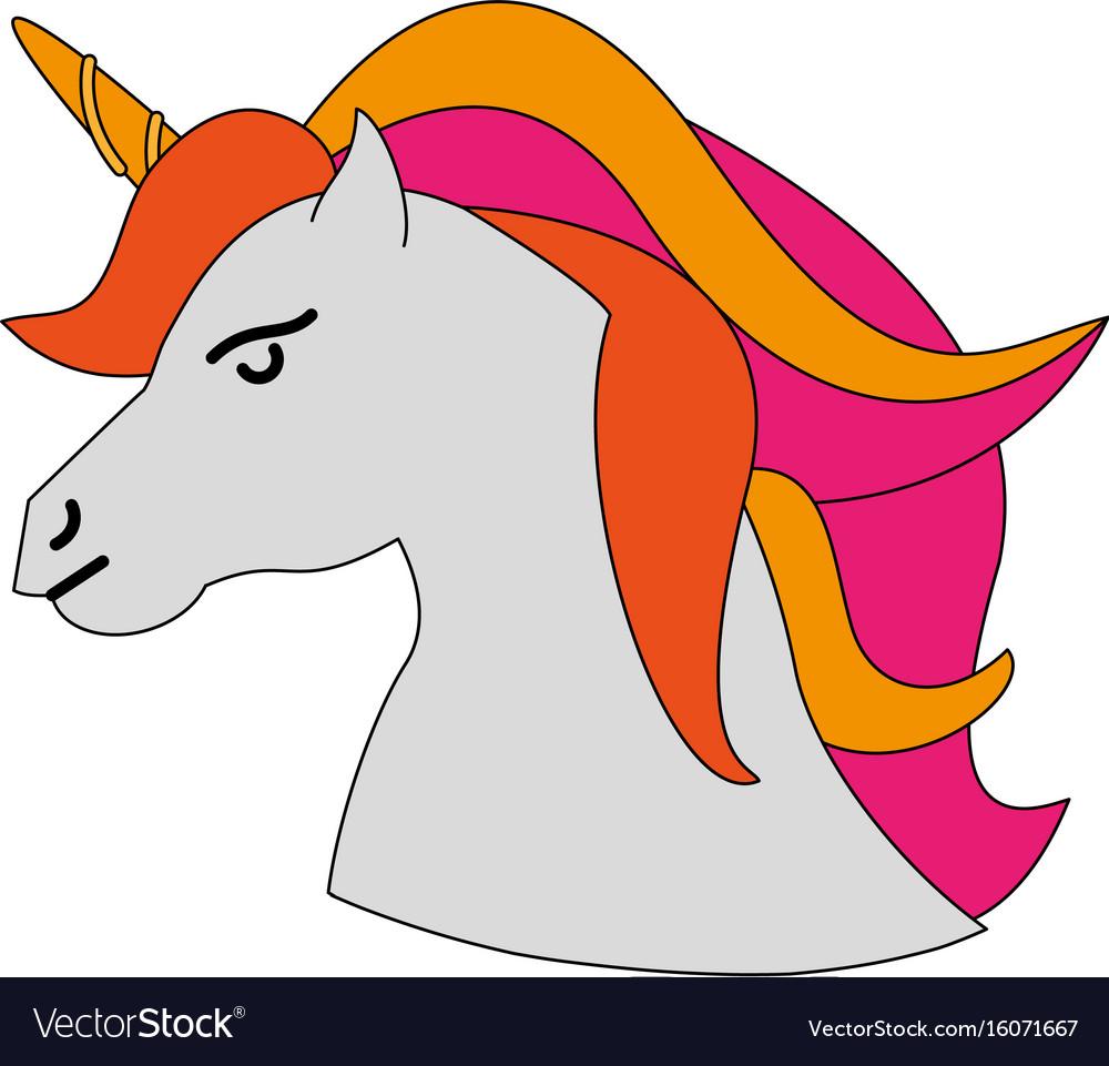 Cute littl unicorn cartoon