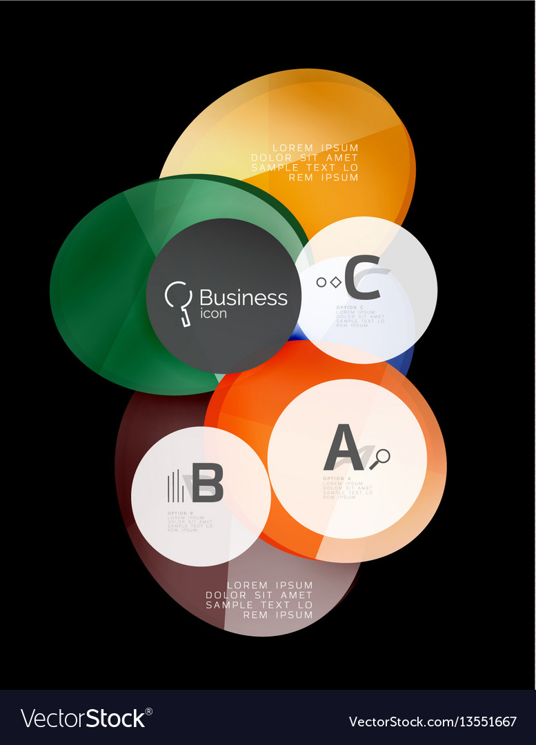 Glass color circles - infographic elements on