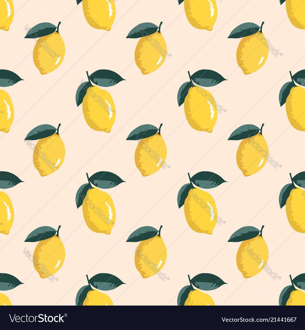 Summer pattern with lemons seamless texture design