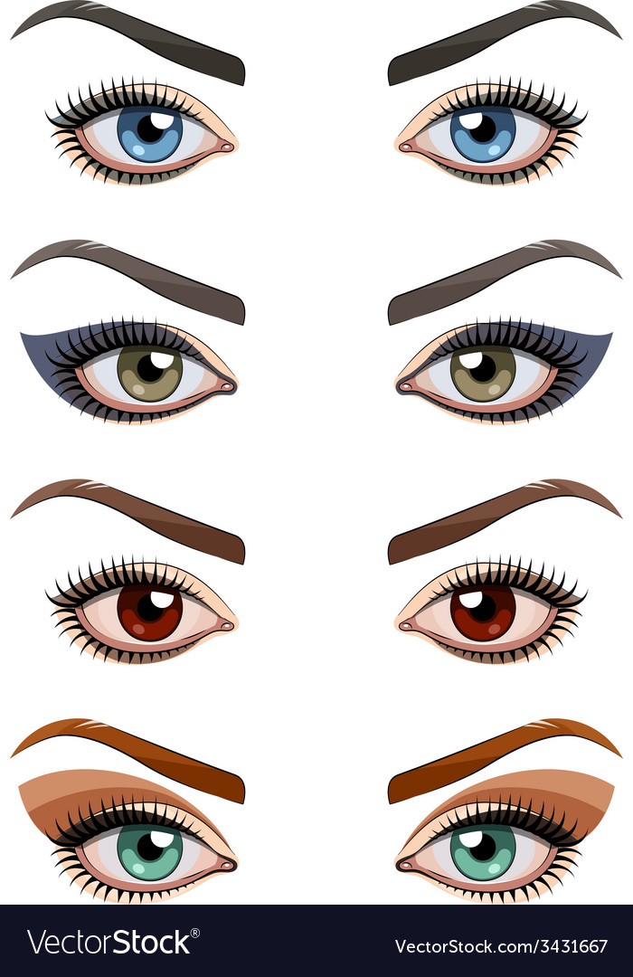 Womans eyes with make-up vector image