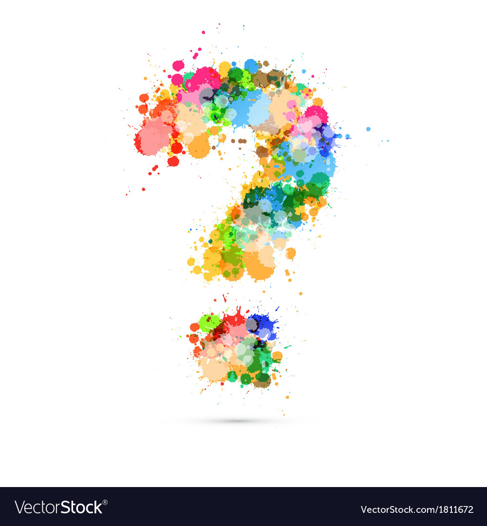 Abstract Question Mark Colorful Symbol vector image