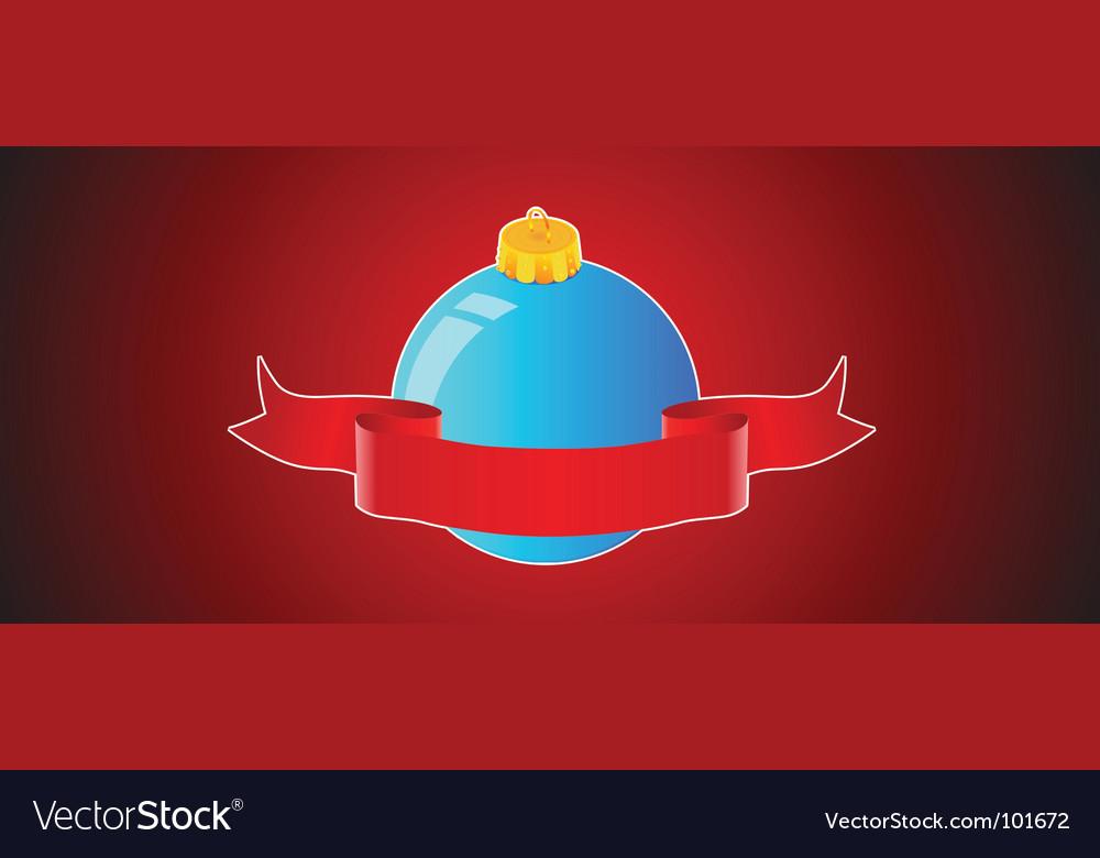 Christmas ball background banner vector image