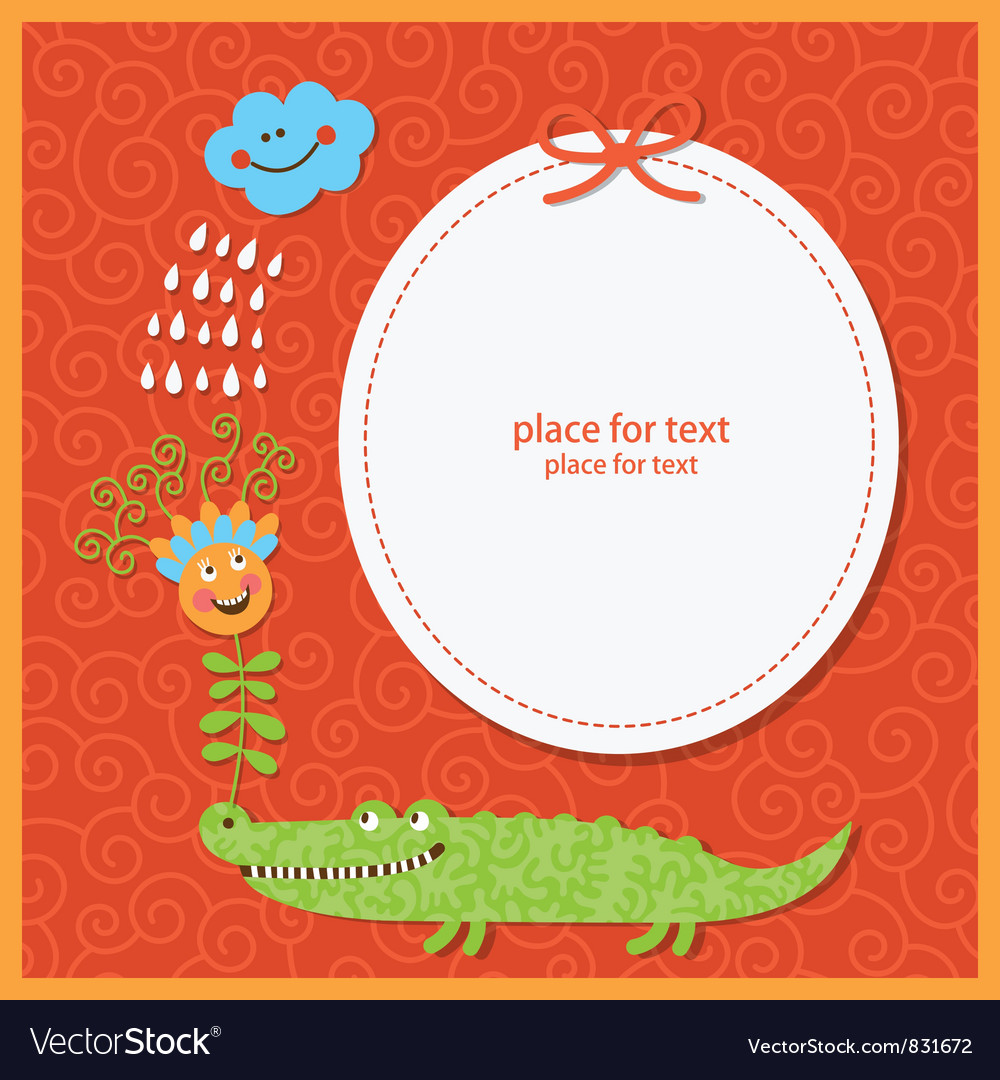 Cute children greeting card