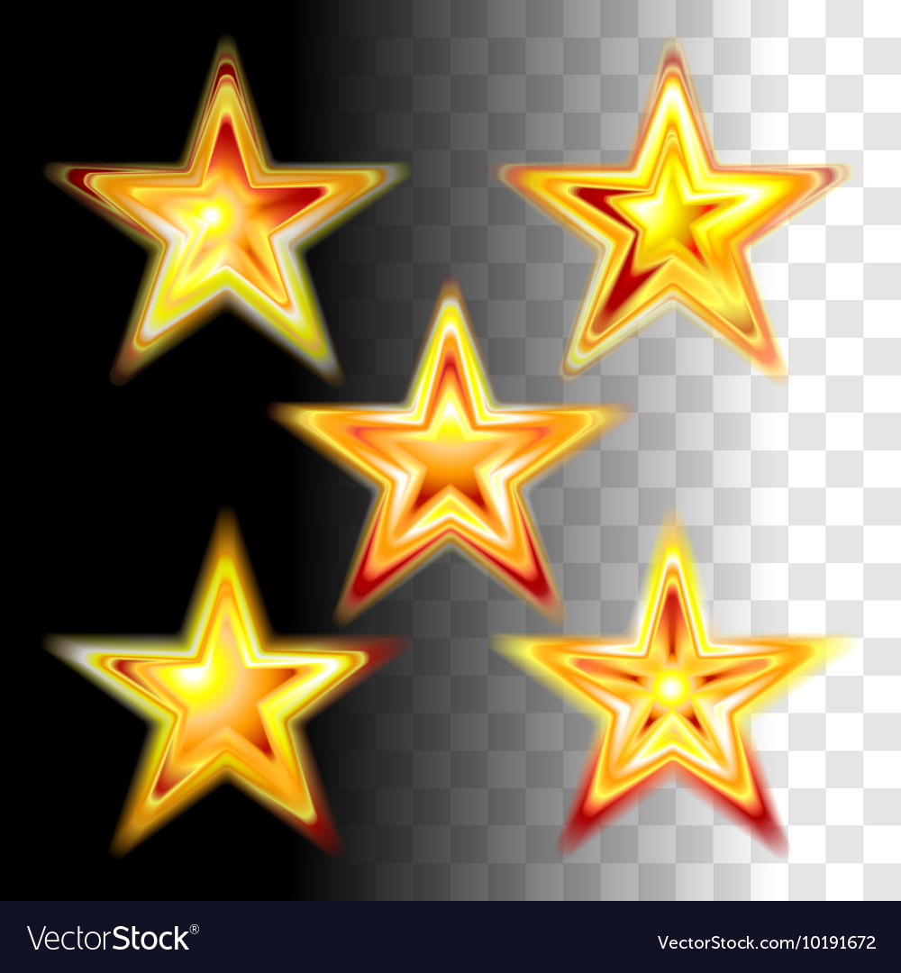 Gold red christmas stars vector image