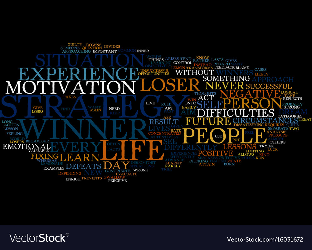 Learn how to win text background word cloud