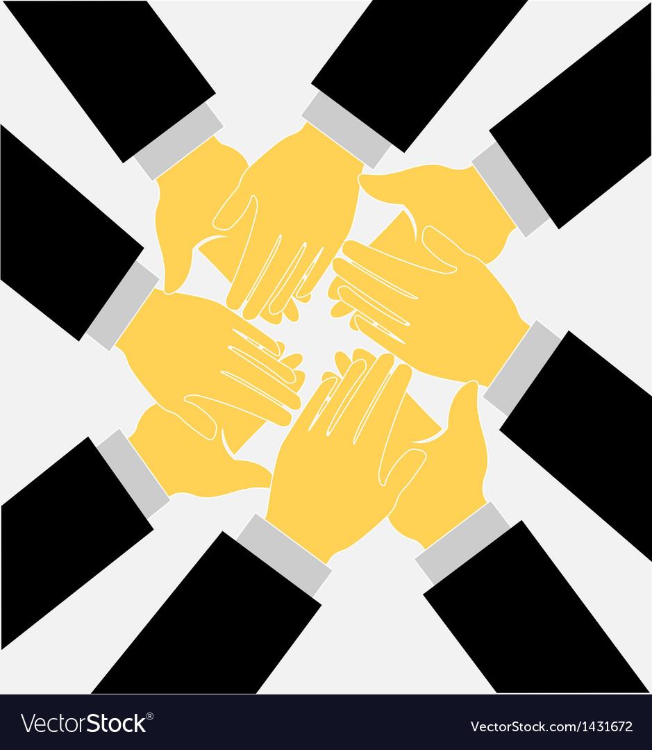 Teamwork clapping hands logo