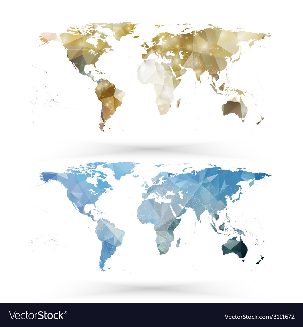 world map template triangle design royalty free vector image