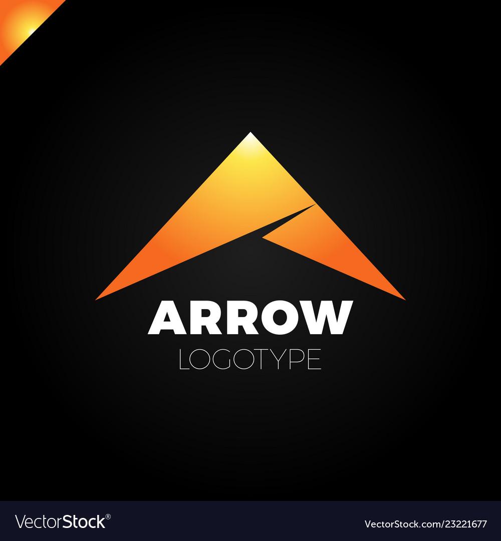 Abstract arrow icon logo design template