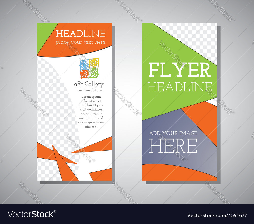 Abstract Art Gallery Polygonal Triangle Brochure vector image